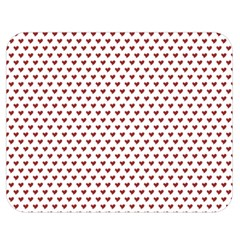Ruby Red Small Hearts Pattern Double Sided Flano Blanket (medium)  by CircusValleyMall