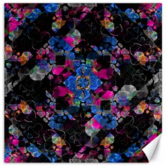 Stylized Geometric Floral Ornate Canvas 16  X 16   by dflcprints