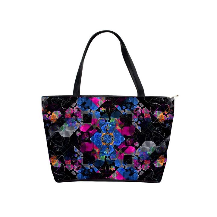 Stylized Geometric Floral Ornate Shoulder Handbags