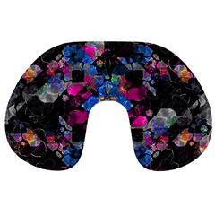Stylized Geometric Floral Ornate Travel Neck Pillows by dflcprints