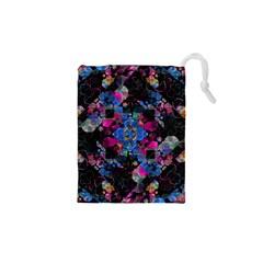 Stylized Geometric Floral Ornate Drawstring Pouches (xs)  by dflcprints