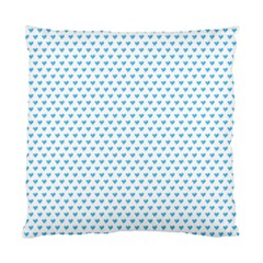 Sky Blue Small Hearts Pattern Standard Cushion Case (one Side) by CircusValleyMall
