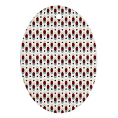 Geometric Retro Patterns Ornament (oval)  by TastefulDesigns