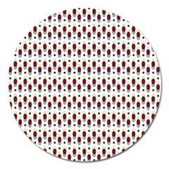 Geometric Retro Patterns Magnet 5  (round)