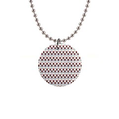 Geometric Retro Patterns Button Necklaces