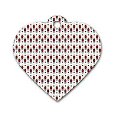 Geometric Retro Patterns Dog Tag Heart (one Side) by TastefulDesigns