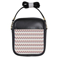 Geometric Retro Patterns Girls Sling Bags