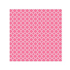 Soft Pink Quatrefoil Pattern Small Satin Scarf (square) by Zandiepants