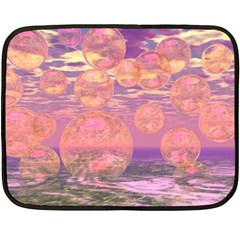 Glorious Skies, Abstract Pink And Yellow Dream Double Sided Fleece Blanket (mini)  by DianeClancy