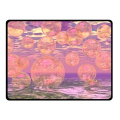 Glorious Skies, Abstract Pink And Yellow Dream Double Sided Fleece Blanket (small)  by DianeClancy