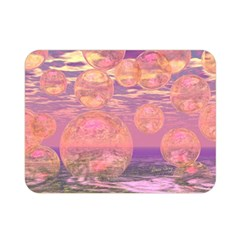 Glorious Skies, Abstract Pink And Yellow Dream Double Sided Flano Blanket (mini)  by DianeClancy