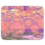 Glorious Skies, Abstract Pink And Yellow Dream Double Sided Flano Blanket (Medium)  60 x50 Blanket Back