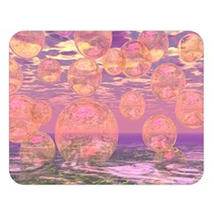Glorious Skies, Abstract Pink And Yellow Dream Double Sided Flano Blanket (large)  by DianeClancy