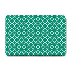 Emerald Green Quatrefoil Pattern Small Doormat by Zandiepants