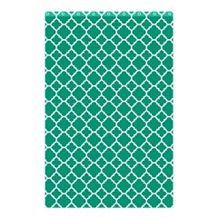 Emerald Green Quatrefoil Pattern Shower Curtain 48  X 72  (small) by Zandiepants