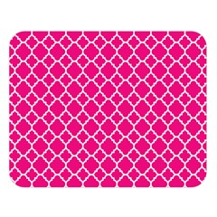 Hot Pink Quatrefoil Pattern Double Sided Flano Blanket (large) by Zandiepants