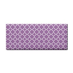 Lilac Purple Quatrefoil Pattern Hand Towel by Zandiepants