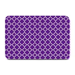 Royal Purple Quatrefoil Pattern Plate Mat by Zandiepants
