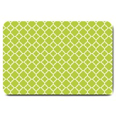 Spring Green Quatrefoil Pattern Large Doormat by Zandiepants