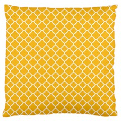 Sunny Yellow Quatrefoil Pattern Standard Flano Cushion Case (two Sides) by Zandiepants