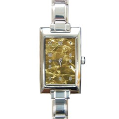 Gold Bar Golden Chic Festive Sparkling Gold  Rectangle Italian Charm Watch by yoursparklingshop