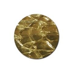Gold Bar Golden Chic Festive Sparkling Gold  Rubber Round Coaster (4 Pack)  by yoursparklingshop