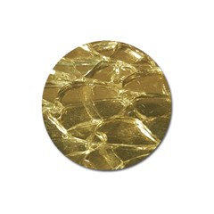 Gold Bar Golden Chic Festive Sparkling Gold  Magnet 3  (round) by yoursparklingshop