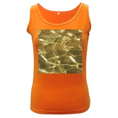 Gold Bar Golden Chic Festive Sparkling Gold  Women s Dark Tank Top by yoursparklingshop