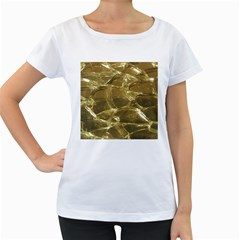 Gold Bar Golden Chic Festive Sparkling Gold  Women s Loose Fit T Shirt (white) by yoursparklingshop