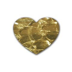 Gold Bar Golden Chic Festive Sparkling Gold  Heart Coaster (4 Pack)  by yoursparklingshop