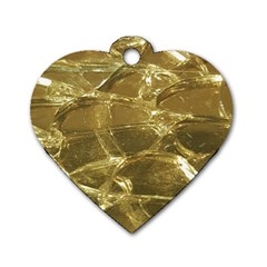 Gold Bar Golden Chic Festive Sparkling Gold  Dog Tag Heart (one Side) by yoursparklingshop