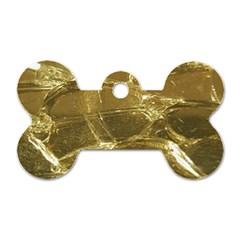 Gold Bar Golden Chic Festive Sparkling Gold  Dog Tag Bone (two Sides) by yoursparklingshop