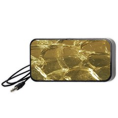 Gold Bar Golden Chic Festive Sparkling Gold  Portable Speaker (black)  by yoursparklingshop