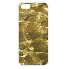 Gold Bar Golden Chic Festive Sparkling Gold  Apple Iphone 5 Seamless Case (white) by yoursparklingshop