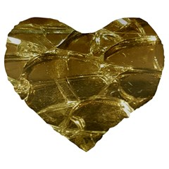 Gold Bar Golden Chic Festive Sparkling Gold  Large 19  Premium Heart Shape Cushions by yoursparklingshop