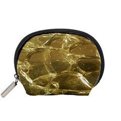 Gold Bar Golden Chic Festive Sparkling Gold  Accessory Pouches (small)  by yoursparklingshop