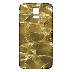 Gold Bar Golden Chic Festive Sparkling Gold  Samsung Galaxy S5 Back Case (white) by yoursparklingshop