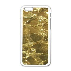 Gold Bar Golden Chic Festive Sparkling Gold  Apple Iphone 6/6s White Enamel Case by yoursparklingshop