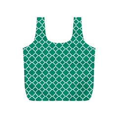 Emerald Green Quatrefoil Pattern Full Print Recycle Bag (s) by Zandiepants