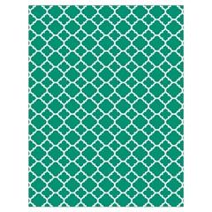 Emerald Green Quatrefoil Pattern Drawstring Bag (large) by Zandiepants