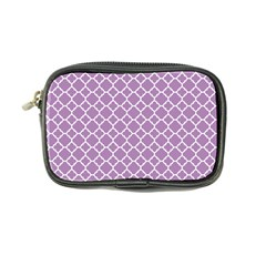 Lilac Purple Quatrefoil Pattern Coin Purse by Zandiepants