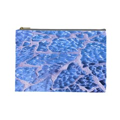 Festive Chic Light Blue Glitter Shiny Glamour Sparkles Cosmetic Bag (large)  by yoursparklingshop