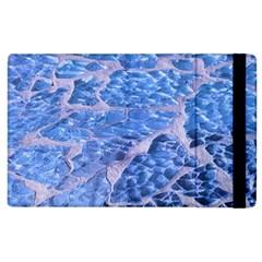 Festive Chic Light Blue Glitter Shiny Glamour Sparkles Apple Ipad 2 Flip Case by yoursparklingshop