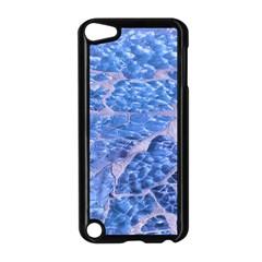 Festive Chic Light Blue Glitter Shiny Glamour Sparkles Apple Ipod Touch 5 Case (black) by yoursparklingshop