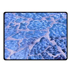 Festive Chic Light Blue Glitter Shiny Glamour Sparkles Double Sided Fleece Blanket (small)  by yoursparklingshop