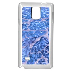 Festive Chic Light Blue Glitter Shiny Glamour Sparkles Samsung Galaxy Note 4 Case (white) by yoursparklingshop