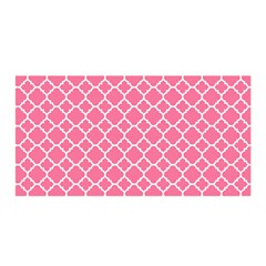 Soft Pink Quatrefoil Pattern Satin Wrap by Zandiepants