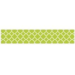 Spring Green Quatrefoil Pattern Flano Scarf (large) by Zandiepants