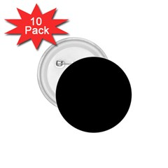 Solid Black 1 75  Buttons (10 Pack) by Zandiepants