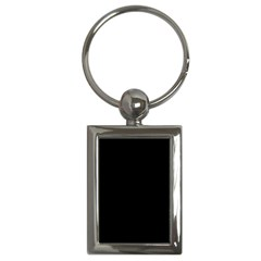 Solid Black Key Chains (rectangle)  by Zandiepants